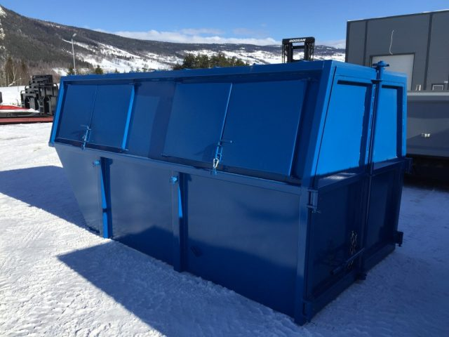 Lukket liftcontainer