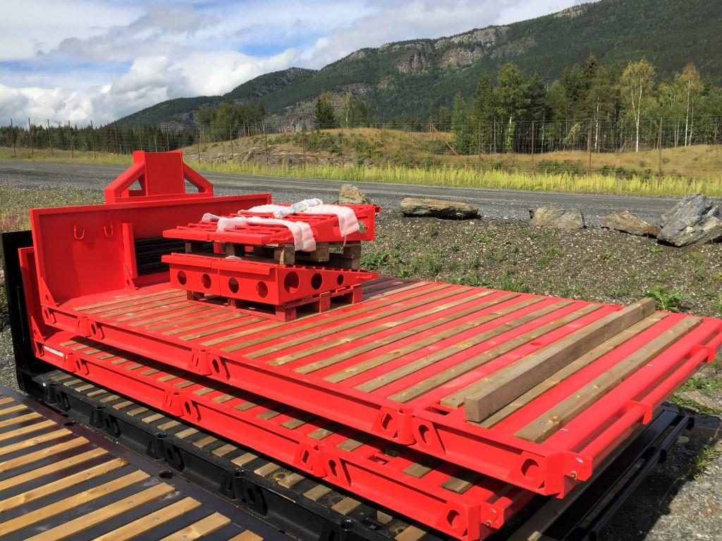 12 tonns maskinflak med løse bruer