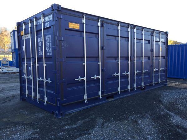 20ft ISO container med side dører