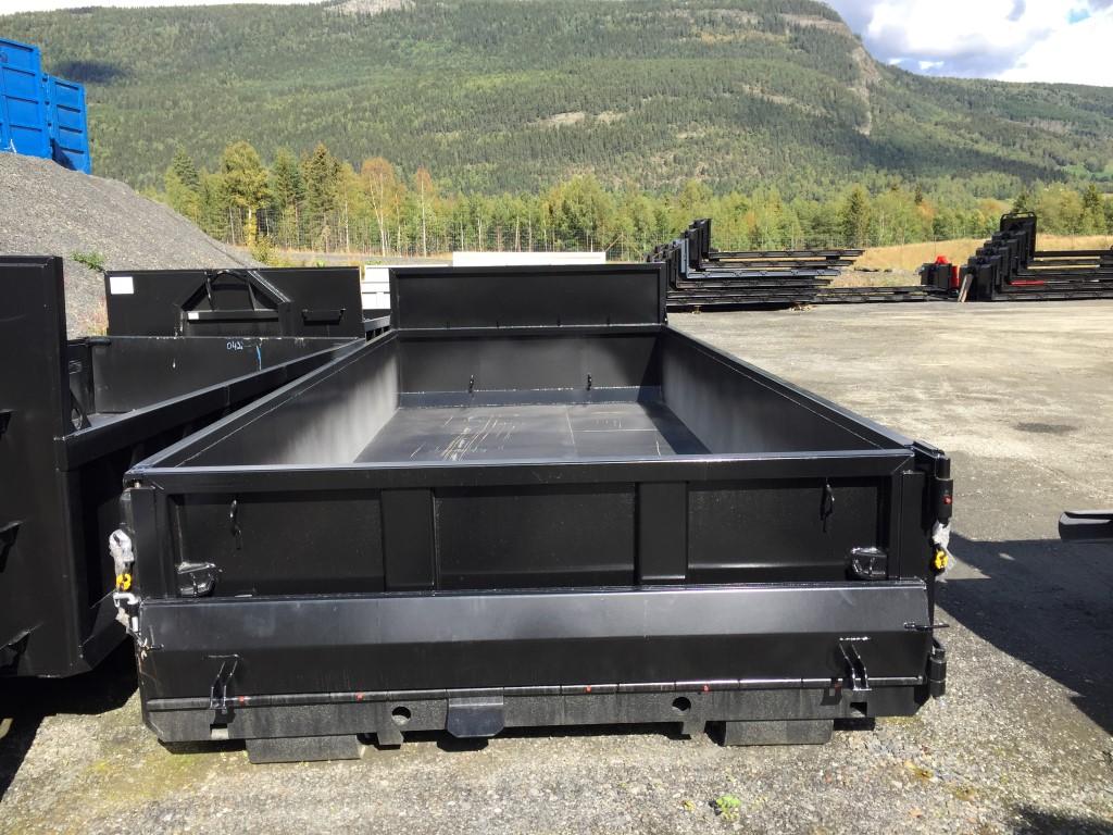 Dumperkasse i S355 stål, sett fra bak