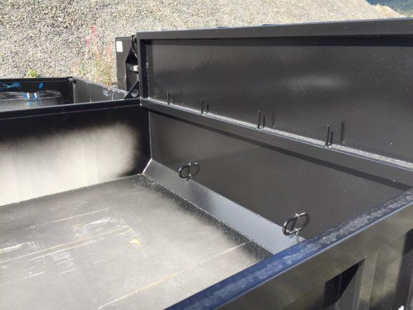 Dumper i s355 stål, innvendige surrekroker