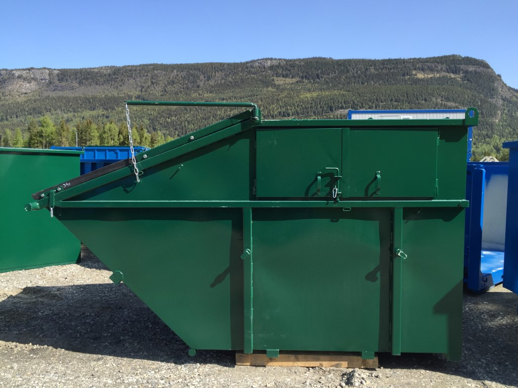 Lukket søppelcontainer