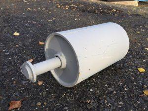 Krokcontainer rull med aksling